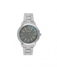Titan Workwear Men's Designer Watch - Quartz, Water Resistant, Stainless Steel Strap - Silver Band and Grey Dial