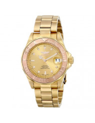 Invicta Men's 13930 Pro Diver 18k Yellow and Rose Gold Ion-Plated Stainless Steel Bracelet Watch