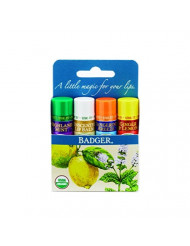 Classic Lip Balm -(Ginger&Lemon, Unscented, Tangerine Breeze, Highland Mint)4PK box