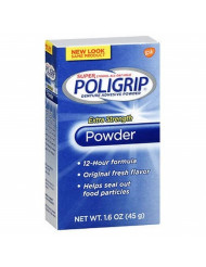 Super Poligrip Powder Size 1.6z Poligrip Extra Strength Denture Adhesive Powder PACK OF 5