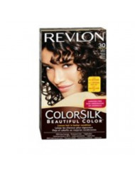 Revlon ColorSilk Hair Color, 30 Dark Brown 1 ea (Pack of 2)