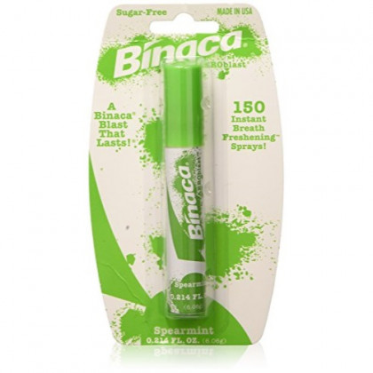 Binaca Aerosol Breath Spray SpearMint 0.20 oz (Pack of 3)