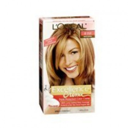 L'Oreal Excellence Creme Hair Color #8 Medium Blonde 1 Application - Pack of 3