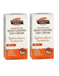 Palmer's Cocoa Butter Formula Skin Perfecting Moisturizing Day Cream With SPF 15, 2.7 oz ( Pack of 2)