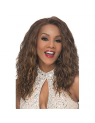 Vivica A. Fox ORLANDO-V Lace Front Wig, New Futura Synthetic Fiber in Color 1B