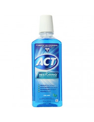 ACT Restoring Anti-Cavity Fluoride Mouthwash, Cool Mint, 18 oz (Pack of 6)