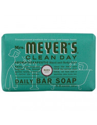Mrs Meyers Bar Soap Basil 5.3 Ounce (156ml)