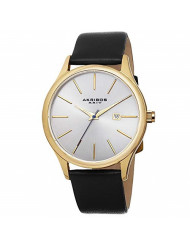 "Akribos XXIV ""Essential"" Men's Watch - Sunray Dial On a Genuine Leather Strap - AK618"