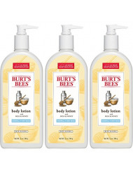 Burt's Bees Milk and Honey Body Lotion, 12 Ounces (Pack of 3)