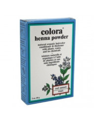Colora Henna Powder Hair Color Red Sunset 2 Ounce (59ml) (3 Pack)