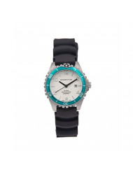 Women's Quartz Watch   M1 Mini by Momentum   Stainless Steel Watches for Women   Dive Watch with Japanese Movement & Analog Display   Water Resistant ladies watch with Date - White / Aqua Rubber