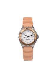 Women's Quartz Watch   M1 Mini by Momentum   Stainless Steel Watches for Women   Dive Watch with Japanese Movement & Analog Display   Water Resistant Ladies Watch with Date - White/Orange Rubber