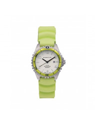 Women's Quartz Watch   M1 Mini by Momentum   Stainless Steel Watches for Women   Dive Watch with Japanese Movement & Analog Display   Water Resistant ladies watch with Date - White / Lime Rubber