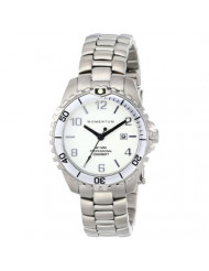 Women's Quartz Watch   M1 Mini by Momentum   Stainless Steel Watches for Women   Dive Watch with Japanese Movement & Analog Display   Water Resistant Ladies Watch with Date - White/White Steel
