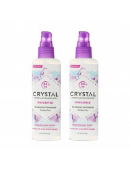 CrystalTM Mineral Deodorant Spray - Unscented Body Deodorant With 24 Hours Odor Protection, Non-Staining & Non-Sticky, Aluminum Chloride & Paraben Free, (2 Pack)