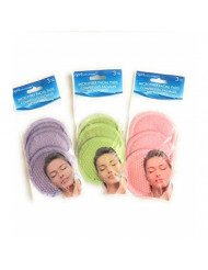 Microfiber Facial Scrubber, Three Packs of 3 (9 Total Scrubbers) - Assorted Colors
