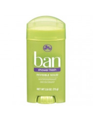Ban Deodorant 2.6 Ounce Invisible Solid Shower Fresh (76ml) (3 Pack)
