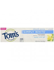 Toms Of Maine Simply White Toothpaste Sweet Mint Gel, 4.7 Ounce, 3 Count