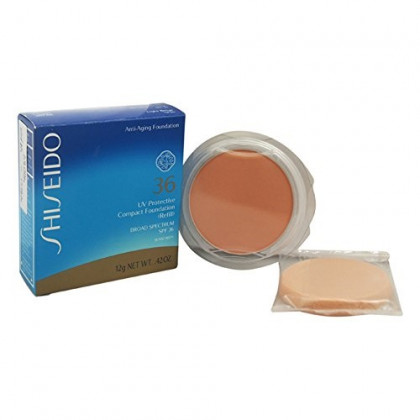 Shiseido UV Protective Compact Refill SPF 36 Foundation for Unisex, Medium Beige, 0.42 Ounce