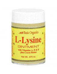 Basic Organics L-Lysine Ointment 0.875 oz (Pack of 4)