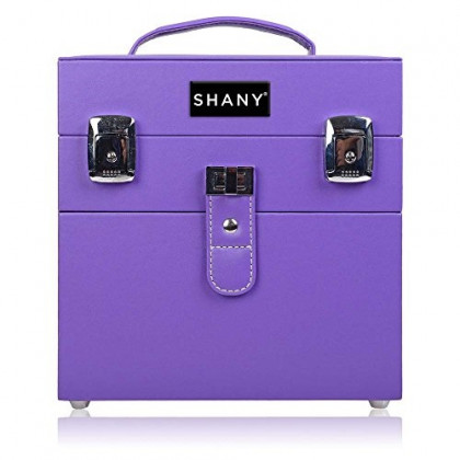 SHANY Color Matters - Nail Accessories Organizer and Makeup Train Case - Violet Dynasty