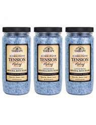 Village Naturals Therapy, Mineral Bath Soak, Aches & Pains Tension Relief, 20 Oz, Pack of 3