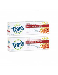 Tom's of Maine Antiplaque Fluoride-free Fennel Toothpaste with Propolis and Myrrh, Toothpaste, Fluoride Free Toothpaste, Fennel, 5.5 Ounce, 2-Pack