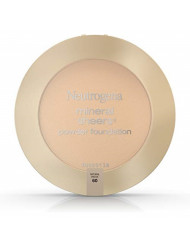 Neutrogena Mineral Sheers Compact Powder Foundation, Lightweight & Oil-Free Mineral Foundation, Fragrance-Free, Natural Beige 60,.34 oz (Pack of 2)