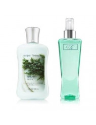 Bath & Body Works Signature Collection Juniper Breeze Gift Set ~ Body Lotion & Fragrance Mist. Lot of 2