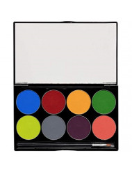 Mehron Makeup Paradise AQ Face & Body Paint 8 Color Palette (Tropical)