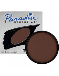Mehron Makeup Paradise Makeup AQ Face & Body Paint (1.4 oz) (Dark Brown)
