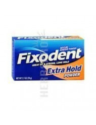 Fixodent Denture Adhesive Powder Extra Hold 2.70 oz (Pack of 6)