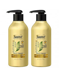 Suave Professionals Natural Infusion Strengthening Light Leave-In Cream, 6 Ounce (Pack of 2)
