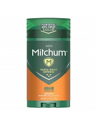 Mitchum Men Stick Solid Antiperspirant Deodorant Twin Pack, Sport, 2.7 Ounce