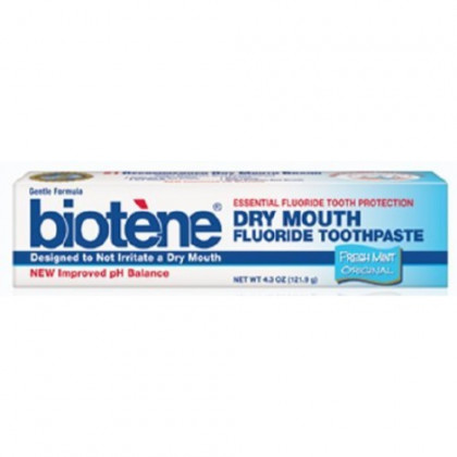 Biotene Dry Mouth Fluoride Toothpaste Fresh Mint Original 4.3 Oz. (2 Pack)