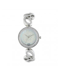 Titan Raga Women's Bracelet Dress Watch with Swarovski Crystals - Quartz, Water Resistant - Silver Band and Mother of Pearl Dial