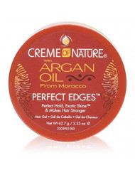 Creme Of Nature Argan Oil Perfect Edges Control 2.25 Ounce Jar (66ml) (2 Pack)