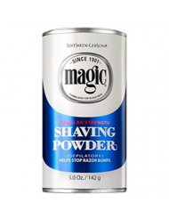 Magic Shaving Powder Blue Regular Strength 5 oz (Pack of 5)