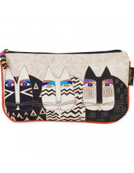 Laurel Burch Cosmetic Bag Set, Wild Cats, 3-Pack