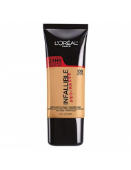 L'Oreal Paris Infallible Pro-Matte Liquid Longwear Foundation Makeup, 106 Sun Beige, 1 fl. oz.