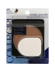 CoverGirl Simply Powder Foundation, Buff Beige [525] 0.41 oz (Pack of 12)