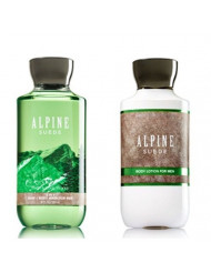 Bath and Body Works Alpine Suede Set, Lotion and Gel