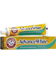 ARM & HAMMER Advance White Baking Soda Toothpaste, Frosted Mint 6 oz (Pack of 4)