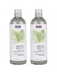 NOW Solutions Glycerine Vegetable, 16-Fluid Ounces (32 oz) pack of 2