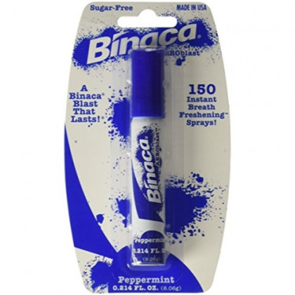 Binaca Aeroblast Breath Spray, Peppermint Flavor, Pack of 12