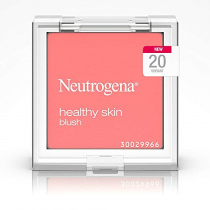 Neutrogena Healthy Skin Powder Blush Makeup Palette, Illuminating Pigmented Blush with Vitamin C and Botanical Conditioners for Blendable, Buildable Application, 20 Vibrant,.19 oz
