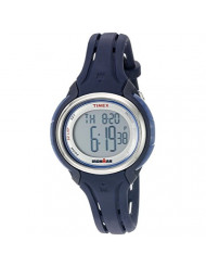 Timex Women's TW5K905009J Ironman Sleek 50 Dark Blue Silicone Strap Watch