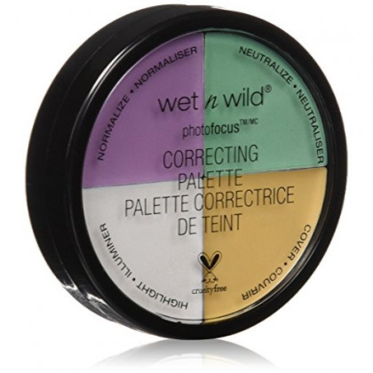 Wet & Wild Coverall Correcting Palette, 349 Color Commentary, 0.22oz/6.5g