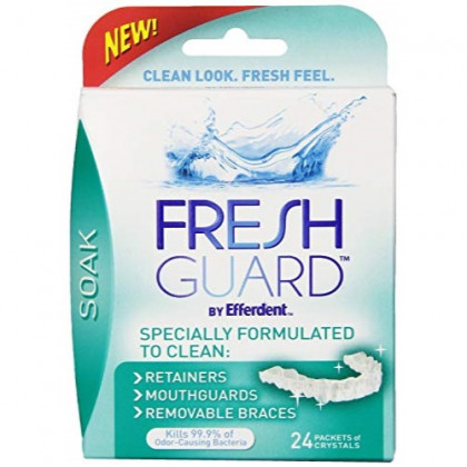Fresh Guard Soak for Retainers Mouthguards Braces