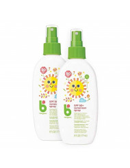 Babyganics Sunscreen Spray 50 SPF, 6oz, 2 Pack, Packaging May Vary